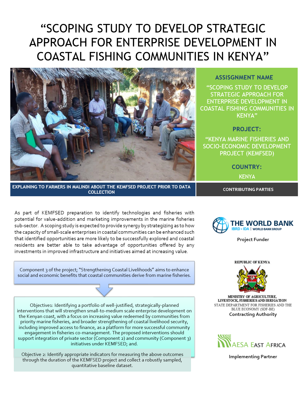 Ongoing Data Collection in the Coastal Region of Kenya